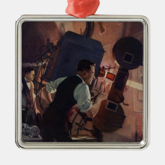 Vintage Business, Movie Theater Projectionist Christmas Ornament