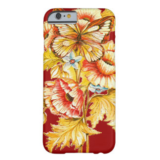 Vintage Butterfly & Flowers Barely There iPhone 6 Case