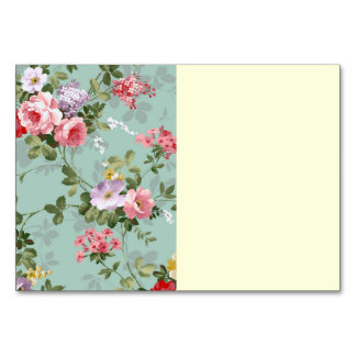 Vintage Cabbage Roses and Lilacs Table Cards