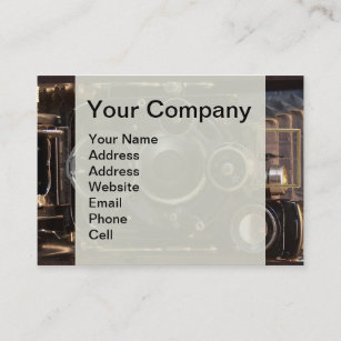 Old camera business cards zazzle nz vintage camera antique photography business card reheart Choice Image