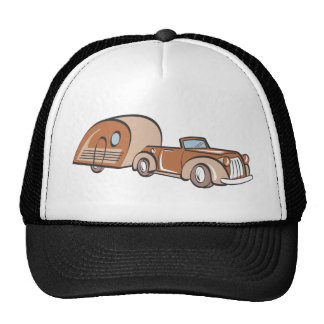 Vintage Camper and Auto Trucker Hats