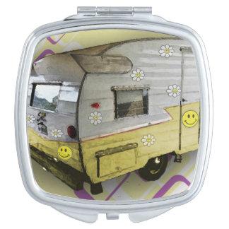 Vintage Camper Trailer compact mirror