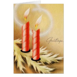 vintage candles Christmas_Card Card