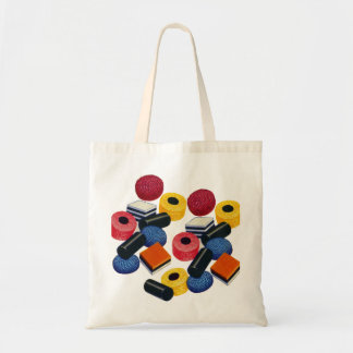 Vintage Candy Liquorice Allsorts All Sorts Budget Tote Bag