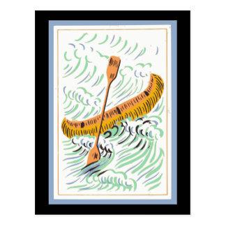 Vintage Canoe Art Postcard