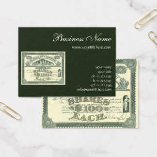 Vintage Capital Stock Certificate Business Finance