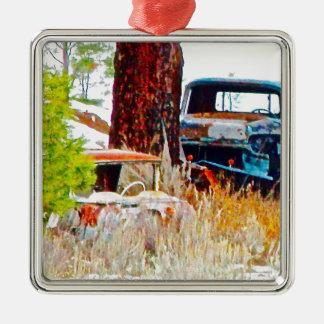 vintage car digital art.jpg christmas ornament