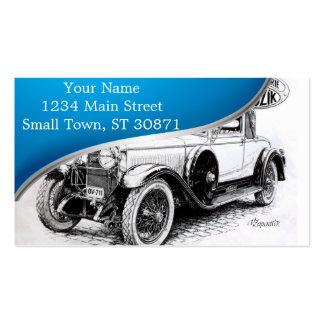 Vintage car illustration pack of standard business cards