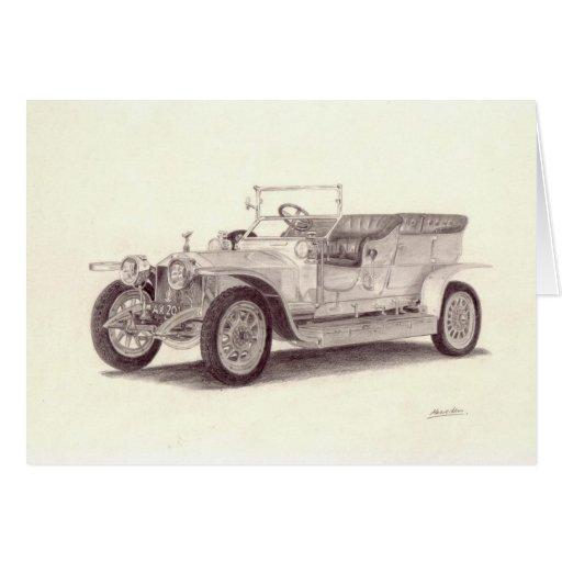 Vintage Car: Rolls Royce Silver Ghost Greeting Cards