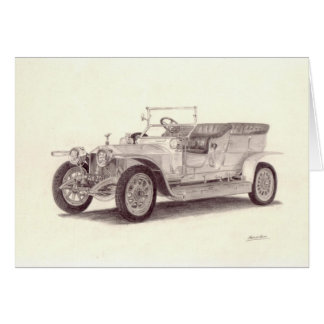 Vintage Car: Rolls Royce Silver Ghost Greeting Card