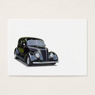 Vintage car with black exterior business card