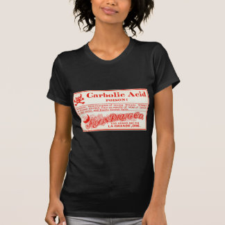 Vintage Carbolic Acid Poison Label T-shirt