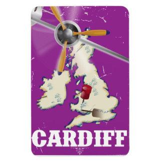 Vintage Cardiff Wales Travel Poster Rectangular Photo Magnet