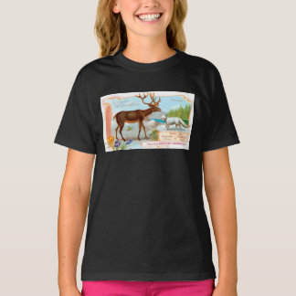 Vintage Caribou (Reindeer) and Arctic Fox T-Shirt