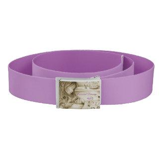 Vintage Carousel Dreams Purple Custom Belt