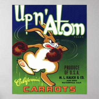 Vintage Carrot Crate Label Print