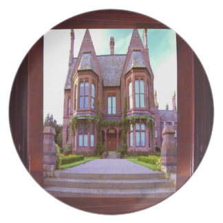 Vintage Castle in its glory awesome architecture Dinner Plate