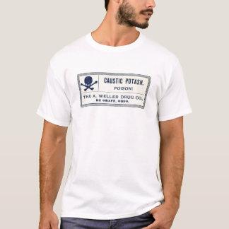 Vintage Caustic Potash Poison Label T-Shirt