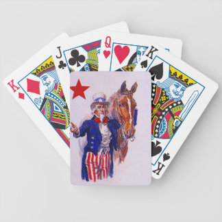 Vintage Cavalry Horse USA Uncle Sam Playing Cards