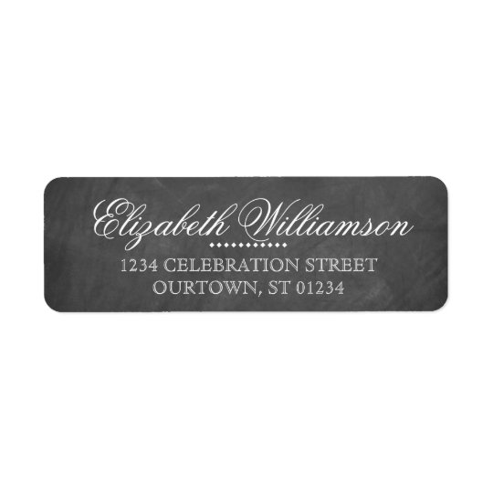 Vintage Chalkboard Address Label