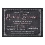 Vintage Chalkboard Bridal Shower Invitations 13cm X 18cm Invitation Card