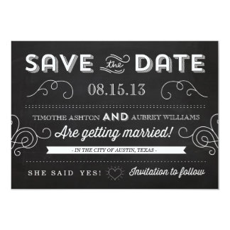 Vintage Chalkboard by Origami Prints Save the Date Card