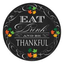 Vintage Chalkboard Classic Thanksgiving Dinner