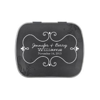 Vintage Chalkboard Theme Custom Wedding Candy Tin