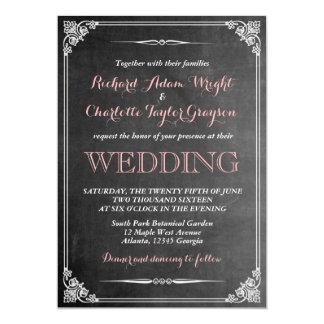 Vintage Chalkboard Victorian Wedding Invitation