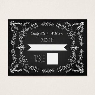 Vintage Chalkboard Wedding Place Setting Cards