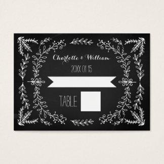 Vintage Chalkboard Wedding Place Setting Cards