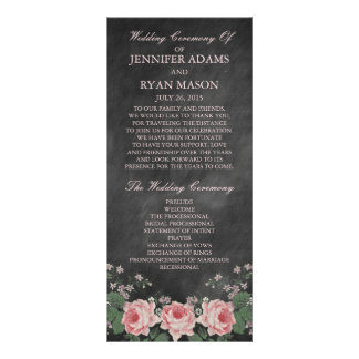 Vintage Chalkboard | Wedding Program Rack Cards