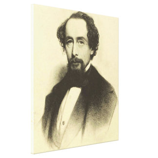 Vintage Charles Dickens Portrait Canvas Print