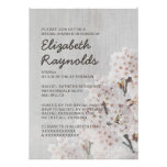 Vintage Cherry Blossom Bridal Shower Invitations Custom Announcements
