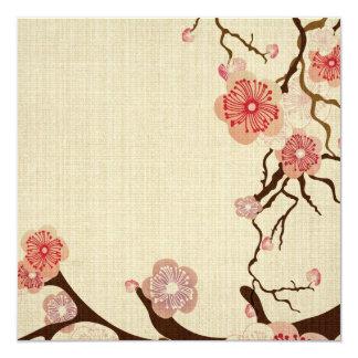 Vintage cherry blossom flowers Invitation