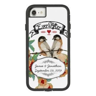 Vintage Cherry Blossom Love Bird Peach Mint Case-Mate Tough Extreme iPhone 8/7 Case