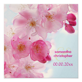 Vintage Cherry blossom/sakura wedding invitations