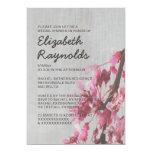 Vintage Cherry Blossoms Bridal Shower Invitations Custom Invites