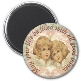 Vintage Cherubs All Good Things Magnet