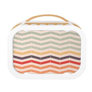 Vintage Chevron Zigzag Stripes Lunch Box