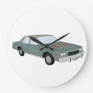 Vintage Chevy Caprice Large Clock