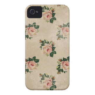 Vintage chic floral roses shabby boho rose flowers iPhone 4 case