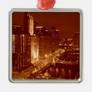Vintage Chicago River Christmas Ornament