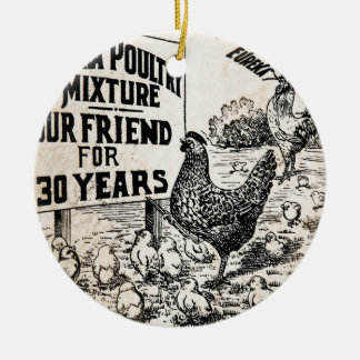 Vintage Chicken Feed Advertisement Christmas Ornament