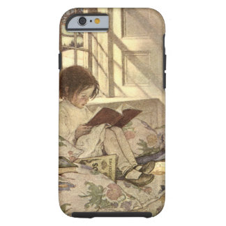 Vintage Child Reading a Book, Jessie Willcox Smith Tough iPhone 6 Case