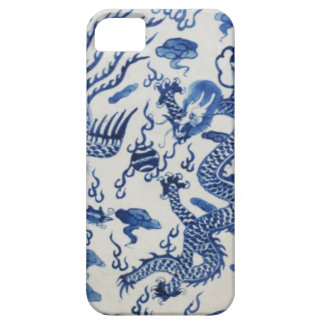 Vintage chinese dragon chinoiserie monaco blue iPhone 5 case