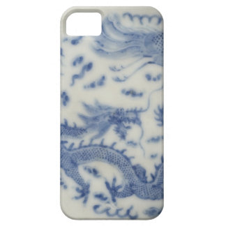 Vintage chinese dragon monaco blue chinoiserie barely there iPhone 5 case
