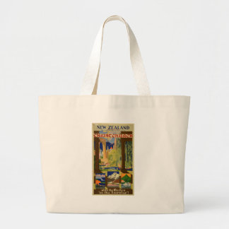 Vintage Christchurch New Zealand Travel Jumbo Tote Bag