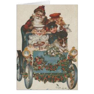 Vintage Christmas Car Card