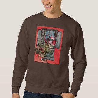 Vintage Christmas Mid-Century Chest Ornaments Sweatshirt